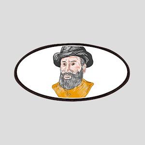 Ferdinand Magellan Bust Drawing Patch