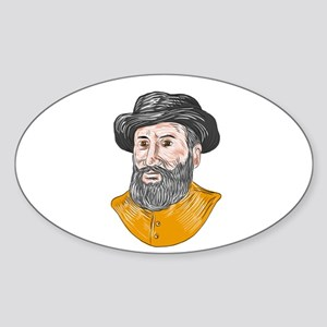 Ferdinand Magellan Bust Drawing Sticker