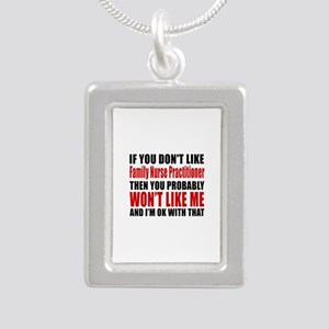 If You Do Not Like FAMIL Silver Portrait Necklace