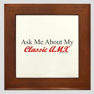 """Ask About My AMX"" Framed Tile"