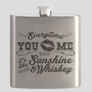 Kiss me- sunshine & whiskey Flask