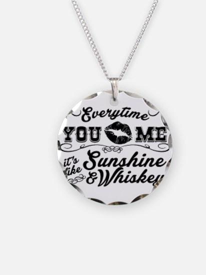 Kiss me- sunshine & whiskey Necklace