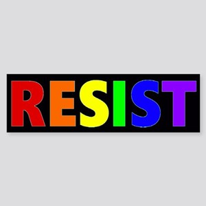 Resist Rainbow Bumper Bumper Sticker