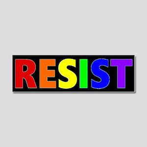 Resist Rainbow Bumper Car Magnet 10 x 3