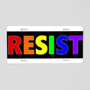 Resist Rainbow Bumper Aluminum License Plate