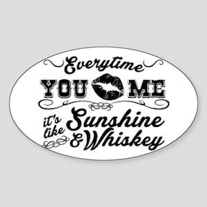 Kiss me- sunshine & whiskey Sticker