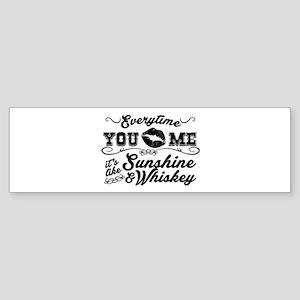 Kiss me- sunshine & whiskey Bumper Sticker