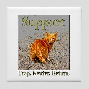 Support Trap Neuter Return Tile Coaster