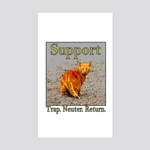 Support Trap Neuter Return Rectangle Sticker