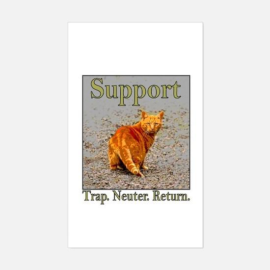 Support Trap Neuter Return Rectangle Decal