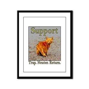 Support Trap Neuter Return Framed Panel Print
