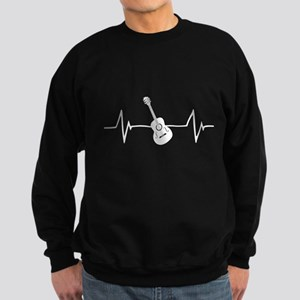 Acoustic Guitar Heartbeat Sweatshirt