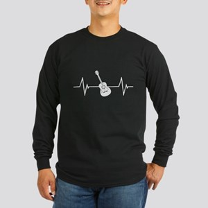 Acoustic Guitar Heartbeat Long Sleeve T-Shirt