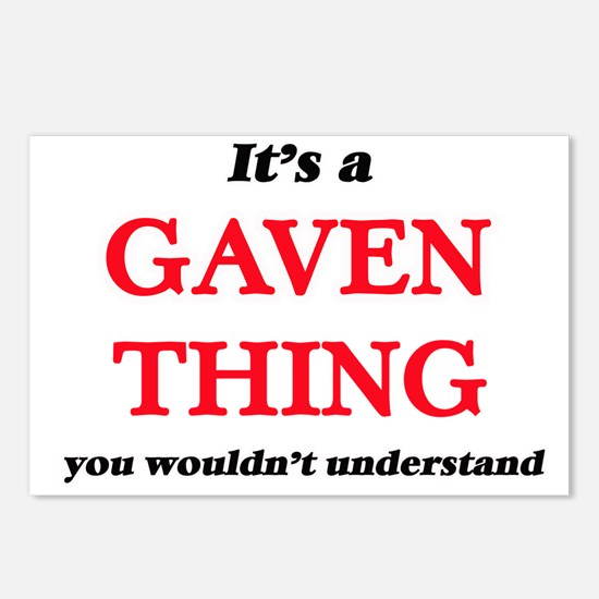 It's a Gaven thing, y Postcards (Package of 8)