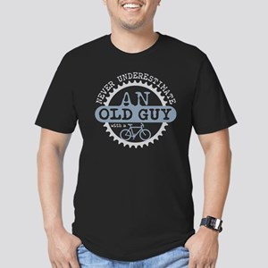 Old Guy Men's Fitted T-Shirt (dark)