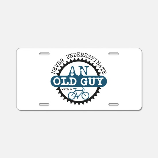 Old Guy Aluminum License Plate