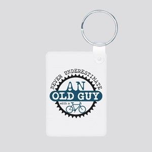 Old Guy Aluminum Photo Keychain