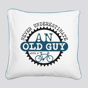 Old Guy Square Canvas Pillow