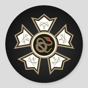 Sigma Nu Round Car Magnet