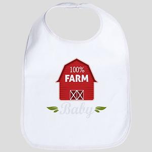 Farm Barn Baby Baby Bib