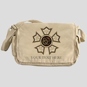 Sigma Nu Badge Personalized Messenger Bag
