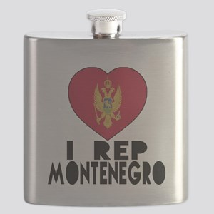 I Rep Montenegro Country Flask