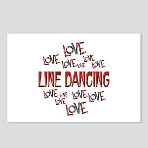 Love Love Line Dancing Postcards (Package of 8)