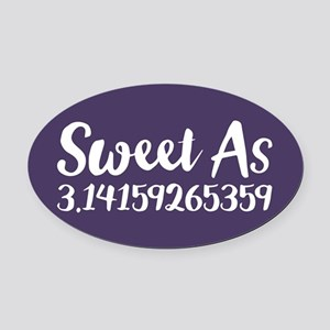 Sweet As Pi Oval Car Magnet