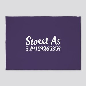 Sweet As Pi 5'x7'Area Rug