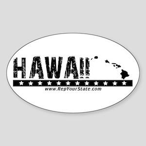 Hawaii Oval Sticker