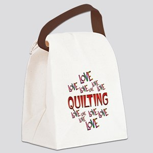 Love Love Quilting Canvas Lunch Bag