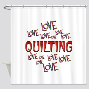 Love Love Quilting Shower Curtain