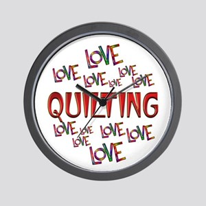 Love Love Quilting Wall Clock