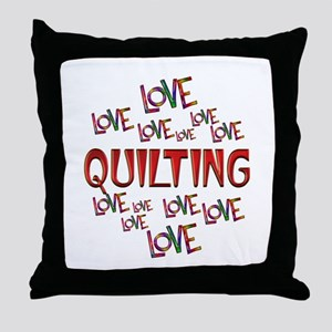 Love Love Quilting Throw Pillow