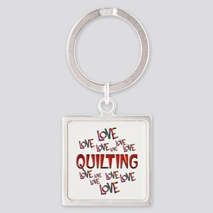 Love Love Quilting Square Keychain