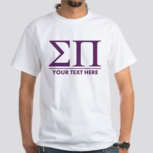 Sigma Pi Letters Personalized White T-Shirt