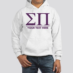 Sigma Pi Letters Personalized Hooded Sweatshirt