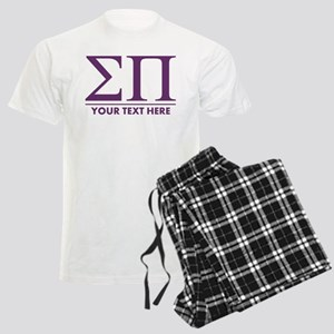 Sigma Pi Letters Personalized Men's Light Pajamas