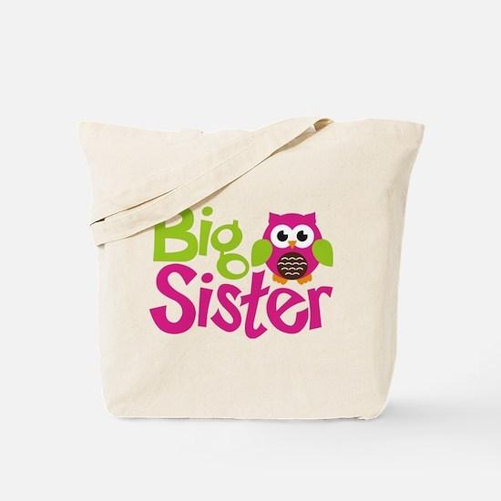 Owl Big Sister Tote Bag