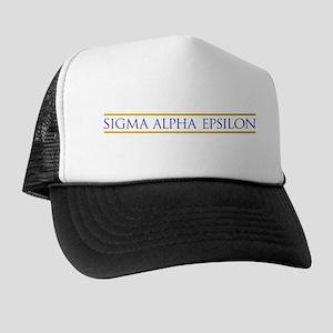 Sigma Alpha Epsilon Fraternity Name in Trucker Hat
