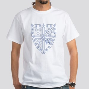 Sigma Alpha Epsilon Fraternity Crest White T-Shirt