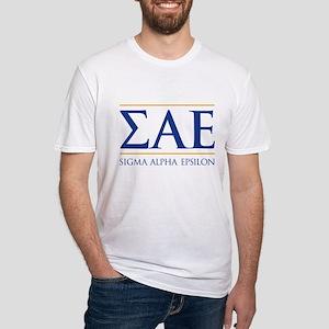 Sigma Alpha Epsilon Fraternity Lett Fitted T-Shirt