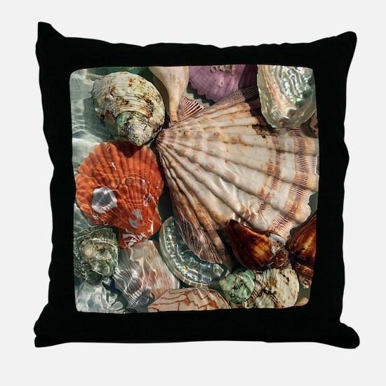 Seashells Throw Pillow