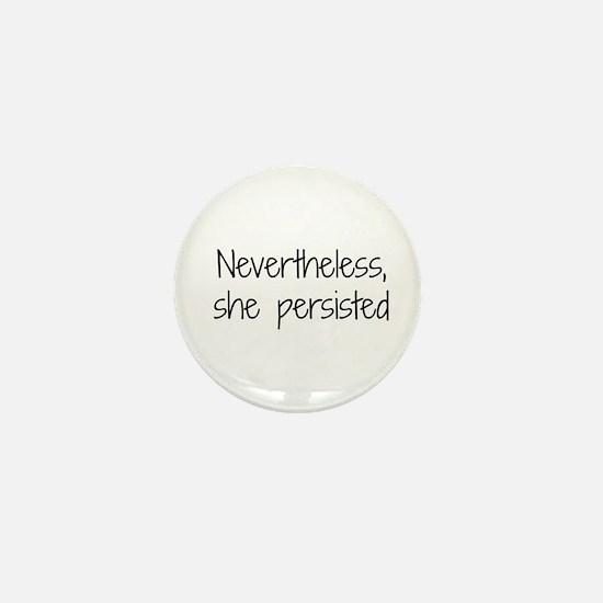She Persisted Mini Button