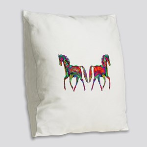 WILD Burlap Throw Pillow