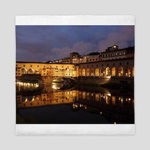 Ponte Vecchio Florence Queen Duvet