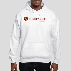 Delta Chi Fraternity Crest Hooded Sweatshirt