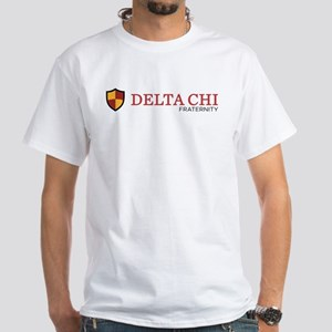 Delta Chi Fraternity Crest White T-Shirt