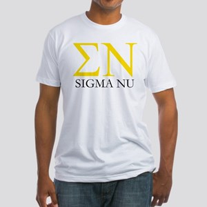 Sigma Nu Letters Fitted T-Shirt