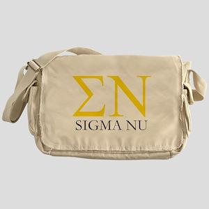 Sigma Nu Letters Messenger Bag